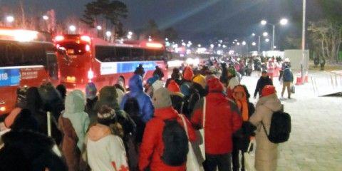 極寒の中で行われたバ韓国の平昌冬季五輪