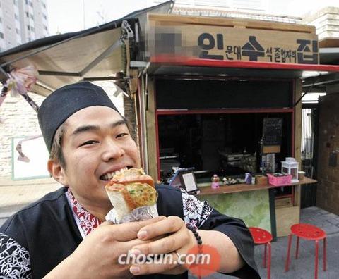 バラック小屋で不衛生なトーストを売るバ韓国塵