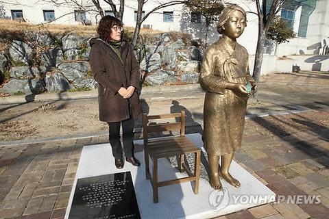 韓国3か所目となる慰安婦像
