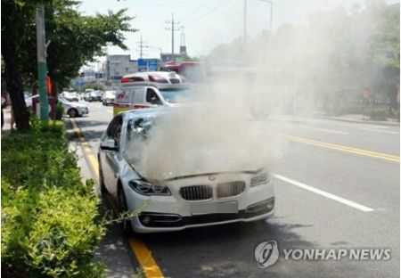 バ韓国で発生しているBMWの火災事故