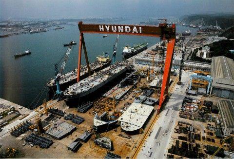 受注が増えても赤字増大のバ韓国・造船業