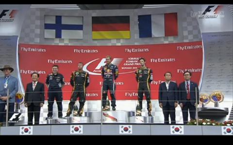2013韓国GP表彰式