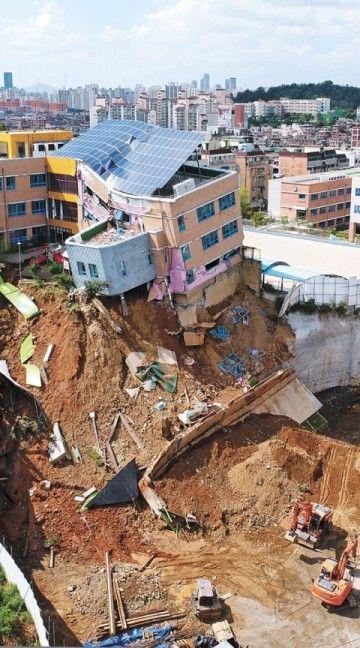 あと少しで完全崩壊していたバ韓国の幼稚園
