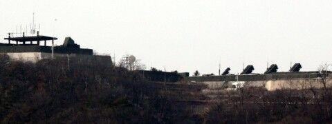バ韓国・大統領府に設置されているパトリオット発射台