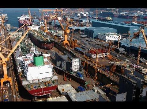 受注ゼロが続くバ韓国の造船業www