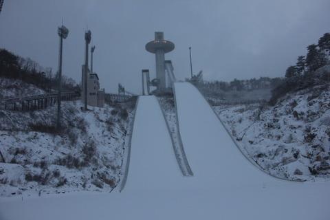 平昌五輪のスキージャンプ台