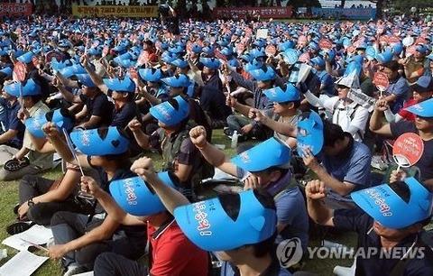 会社が赤字でも賃上げを要求するバ韓国塵ども