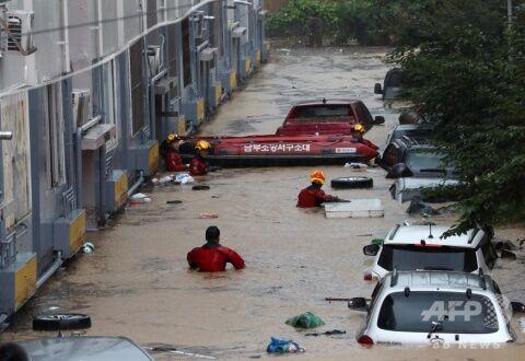 街に汚水が流れているのがバ韓国の普通