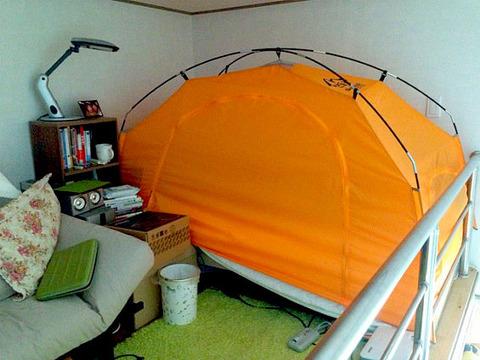 韓国でテントがバカ売れのようです