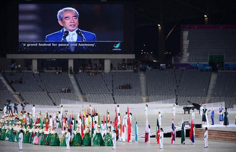 9割9分が空席の仁川アジア大会開会式