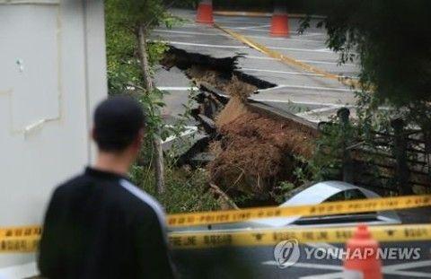 バ韓国・ソウルに巨大シンクホール発生