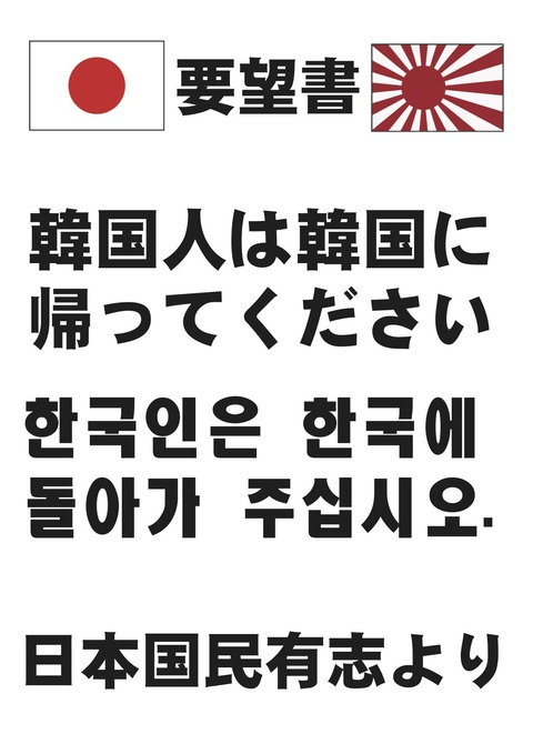 KOREAN GO HOME!