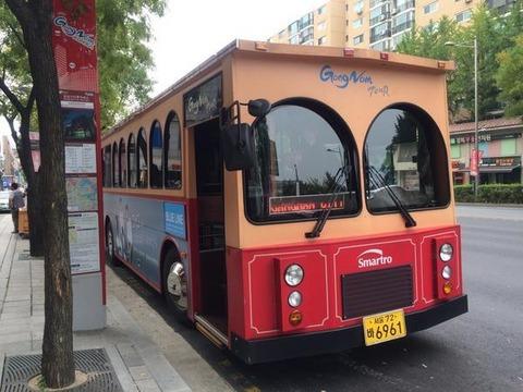 一日平均4人しか利用していない江南トロリーバス