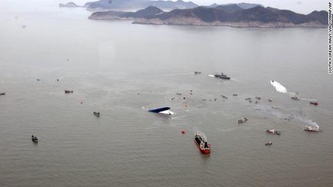 汚い遺体で海を汚す韓国