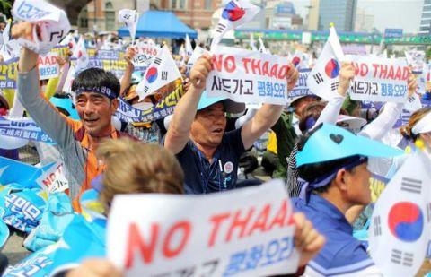 THAAD配備阻止に命をかけるバ韓国塵ども