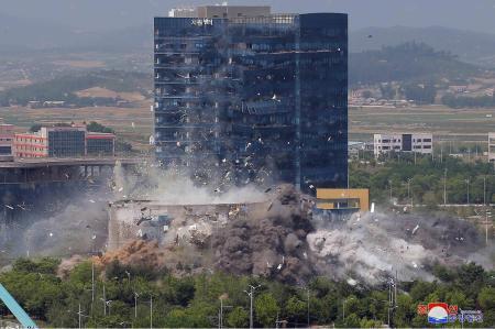 南北共同事務所爆破の責任をアメリカになすりつけるバ韓国