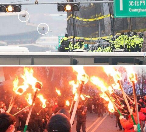 バ韓国のアメリカ大使館が1万匹の屑チョンに襲撃される