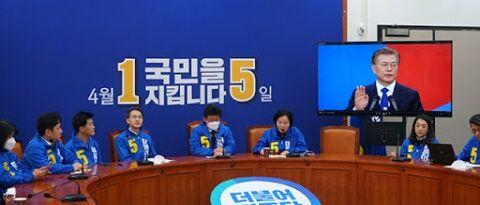 バ韓国の与党支持率が危険水域に