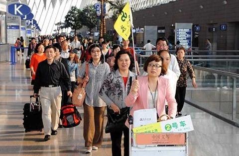 バ韓国を観光する中国の貧困層