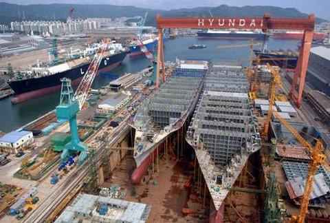 リストラが止まらないバ韓国の現代重工業