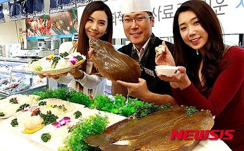 ウンコで育ったバ韓国産のヒラメ