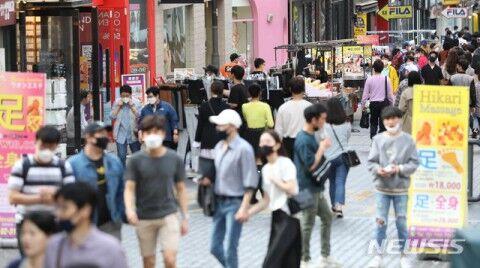 5月3日、バ韓国ソウルの様子