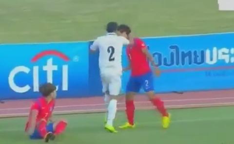 害獣退治中のウズベキスタン選手
