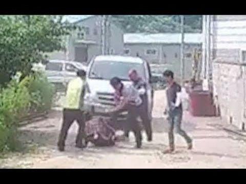 バ韓国の公務員が外国人に集団暴行