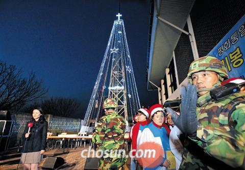 北チョンに対する心理戦の象徴だった愛妓峰鉄塔が撤去