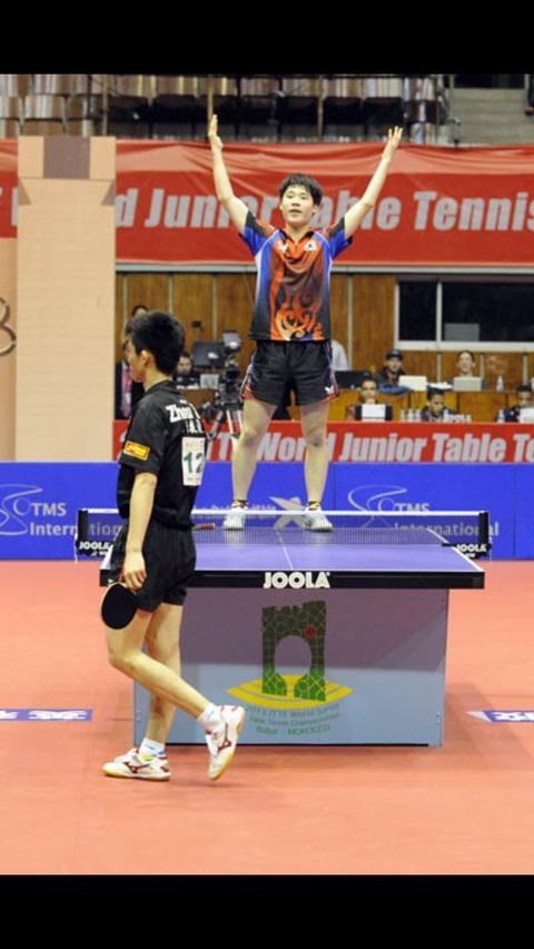 韓国塵が卓球の国際大会で優勝すると