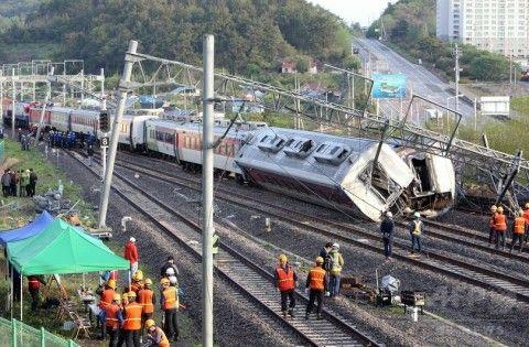 バ韓国の列車事故、脱線事故が一番多い