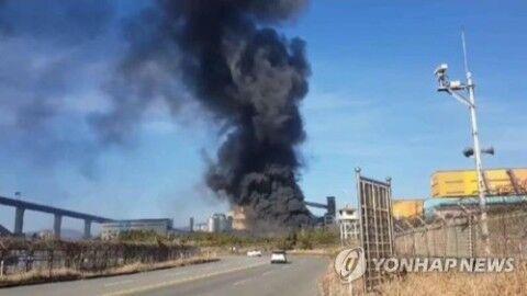 バ韓国で爆発事故
