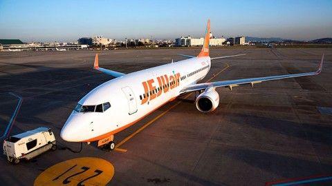 バ韓国のチェジュ航空の旅客機・タイヤがパンク