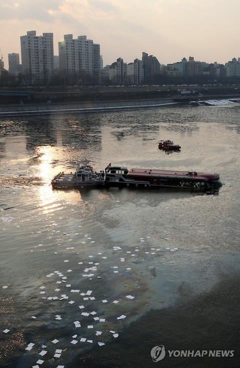 ソウルで遊覧船の浸水事故発生
