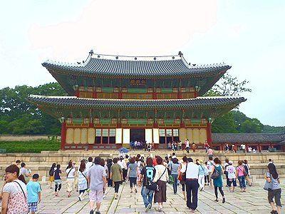 糞韓国の昌徳宮。安っぽい観光地ですねぇ