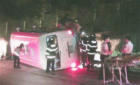 観光バスの衝突事故で邦人8名が負傷