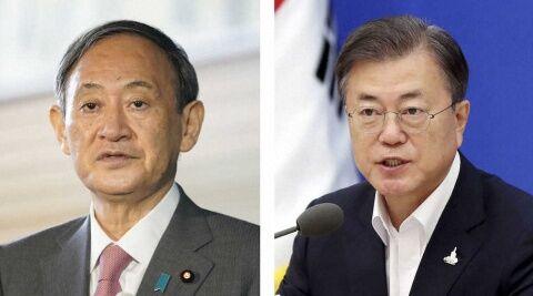 菅首相とバ韓国の文在寅が電話会談