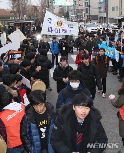 地震で延期となっていたバ韓国の大学修学能力試験