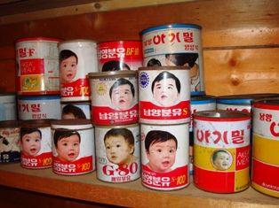 バ韓国製の粉ミルクは人外用のものです