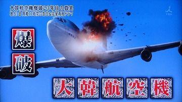 大韓航空機の爆発墜落事故が楽しみですwww