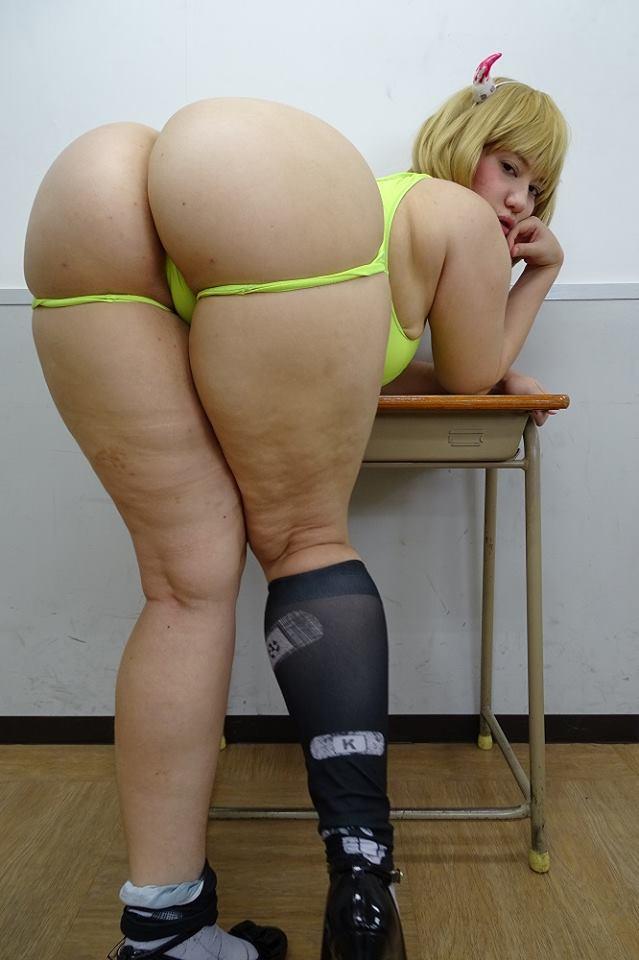 Chubby spreading ass crack