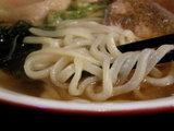 中華そば 太麺 麺のアップ