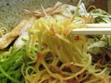 限定 海老の冷やし 冷し中華風 麺のアップ