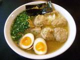 雲呑麺840円+醤蛋100円