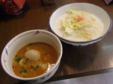 豆乳味噌温麺850円+あじ玉100円
