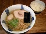 塩ラーメン 650円 + 味玉 100円 + 無料ライス