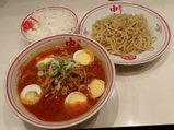 冷し味噌卵麺 900円 + 半ライス 110円