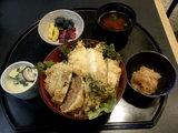 ハンバーグ天丼 1350円