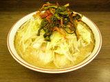 小ラーメン 600円+ニラキムチ 80円 野菜ニンニク