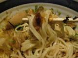 梅乃和え麺雑炊〆 麺のアップ